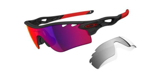 Radarlock Path Matte Black Ink/Red Polarized Vente