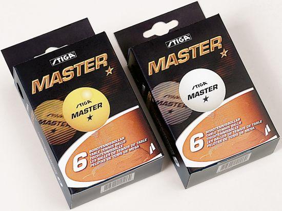 1-X Master Bordtennisballer 6 Stk Hvit WHITE
