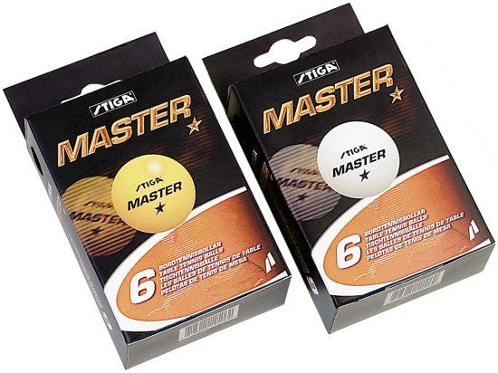 1-X Master Bordtennisballer 6 Stk Hvit