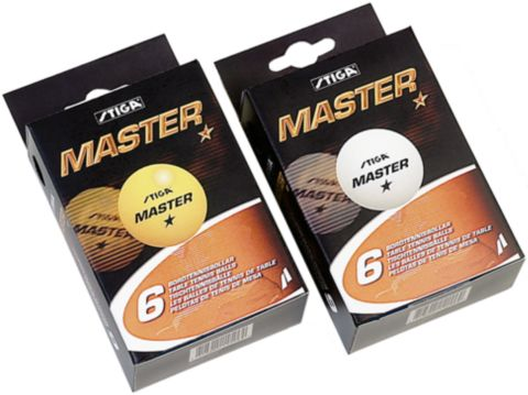 1-X Master Bordtennisball 6 Stk Oransje ORANGE