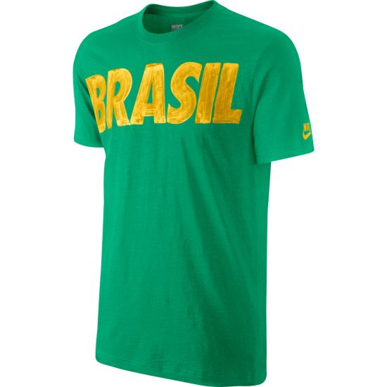 Brasil Bomulls T-Skjorte