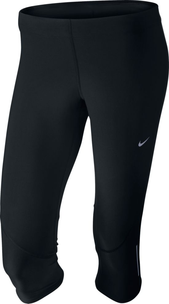 Tech Capri Løpetights Dame 010-BLACK/BLACK