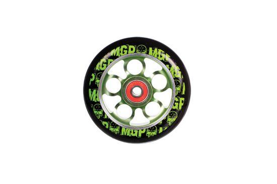 Aero 110mm Hjul BLK/GREEN/GREEN