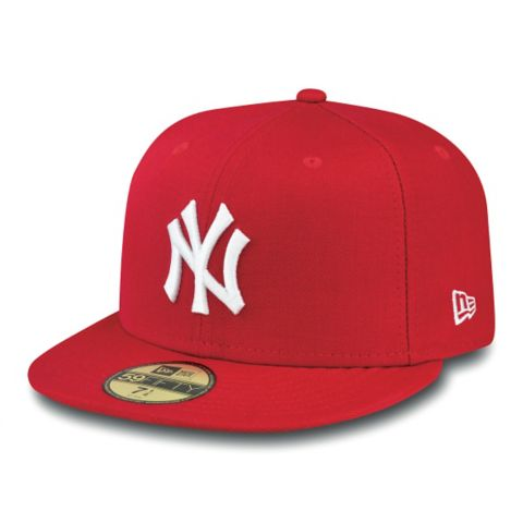 59Fifty Basic New York Yankees Caps SCARLET/WHITE