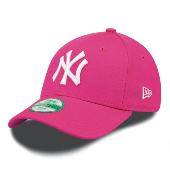 9Forty New York Yankees Caps Barn Junior HOT PINK WHITE