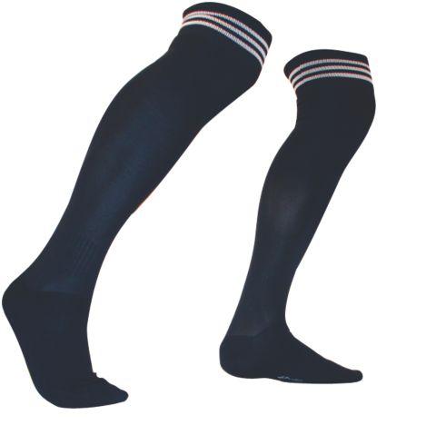 Fotballstrømpe striper MARINE/HVIT