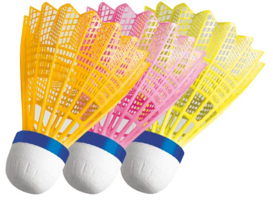 Badmintonball 3-pk GUL/ORANGE/GRØN