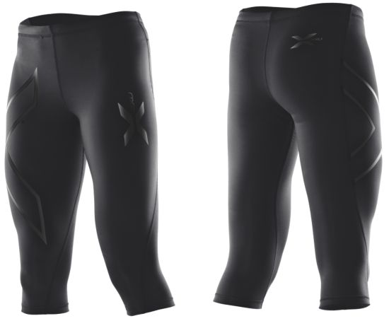 3/4 Compression Tights Dame BLACK/BLACK LOG