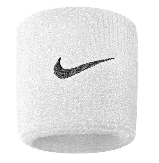 Nike Swoosh Wristbands WHITE/BLACK