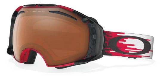 Airbrake Hyperdrive Red - Black Iridium & Persimmon glass