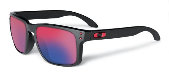 Holbrook  Matte Black/Positive Red Iridium Solbrille