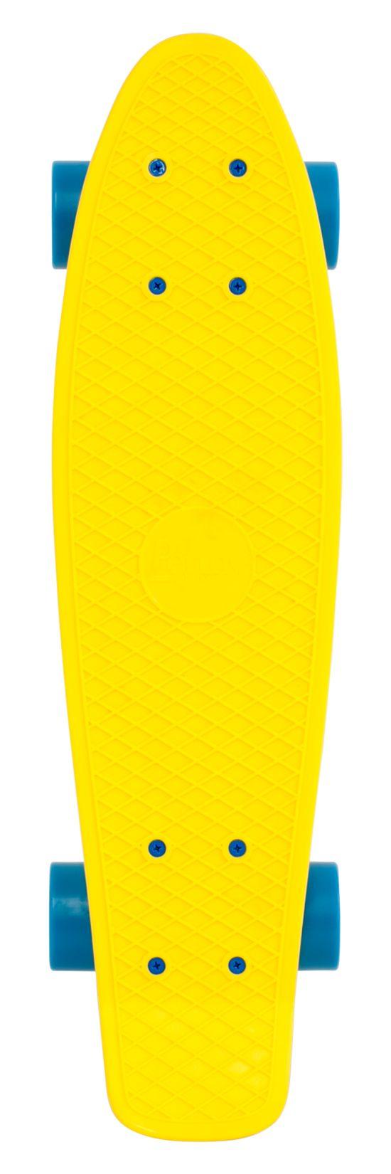 "Complete 22"" Skateboard FLURO YELLOW"