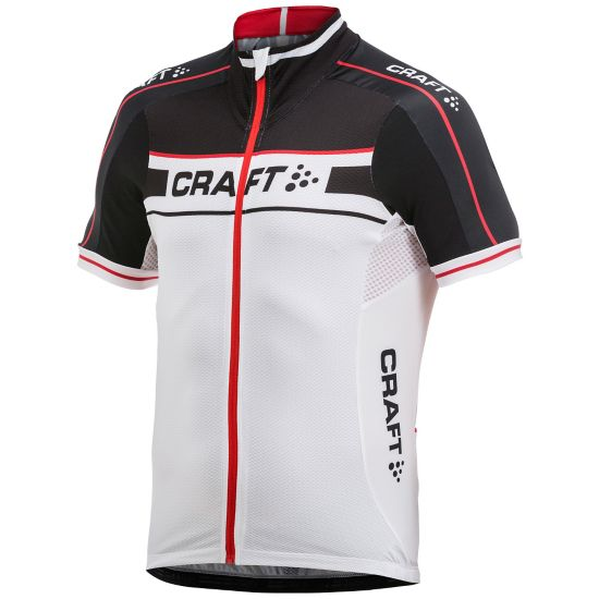 Jersey Sykkeltrøye Herre BLACK/BRIGHT RE