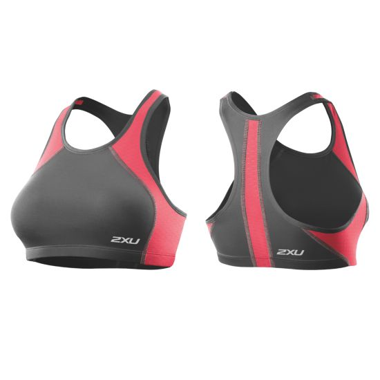 2XU Perform Tri Top Dame CHARCOAL/CORAL