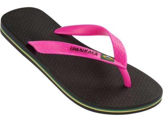 Classica Brasil Slippers Dame BLACK/PINK