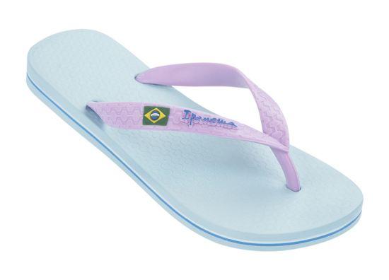 Classica Brasil Slippers Dame BLUE-LILAC