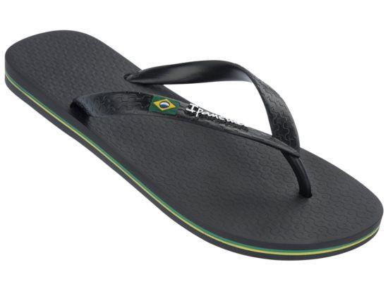 Classica Brasil Flip-Flops Herre BLACK-BLACK