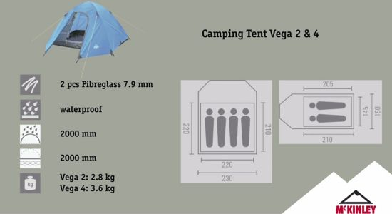 Vega 2 Telt 2 Personer