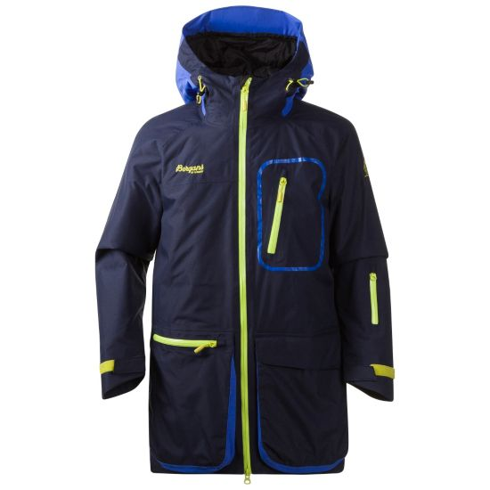 Knyken Vattert Jakke Junior NAVY/WARM COBAL