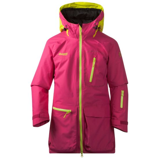 Knyken Vattert Jakke Junior HOT PINK/CITRUS