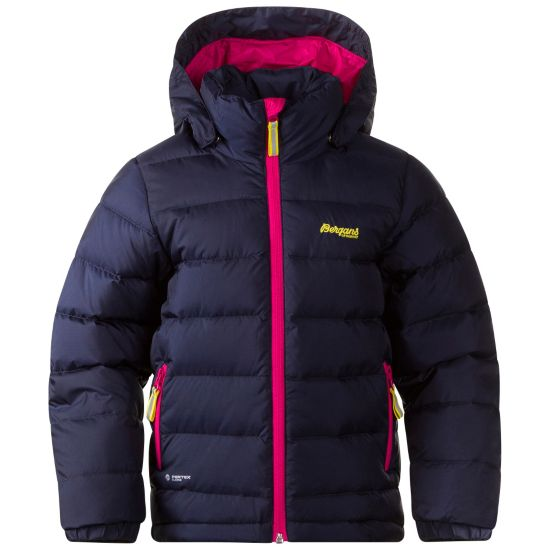 Down Dunjakke Barn NAVY/HOT PINK/L