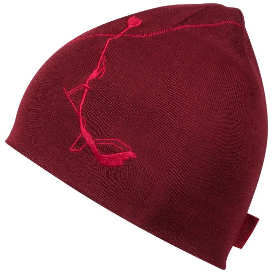 Skiluft Ullue BURGUNDY/RED