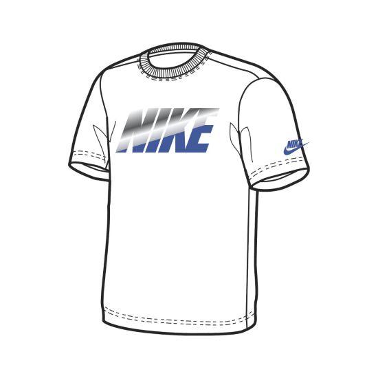 Nike Ya Ss Tee Yth Weis T-Skjorte Jr