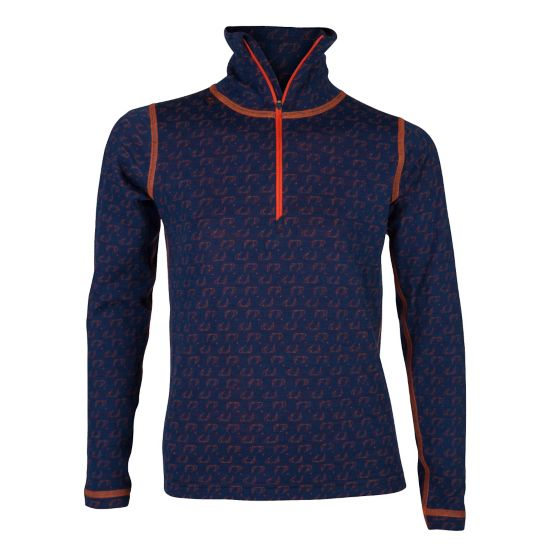 50Fifty Ulltrøye Høy Hals Jr. NEW NAVY/RED OR