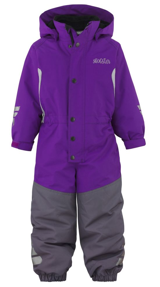 Fersken 2-lags Parkdress Barn HOT PURPLE