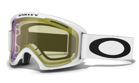 O2 XL Matte White w/HI Yellow Iridium Skibrille
