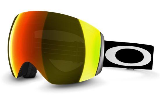 Flight Deck Matte Black w/Fire Iridium Skibrille