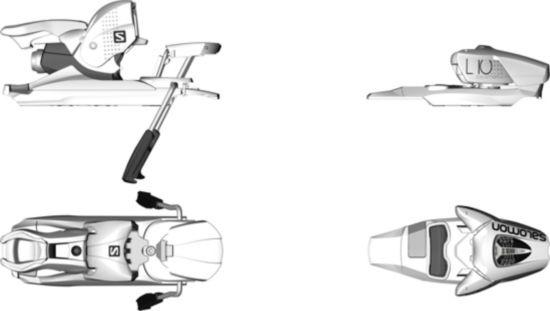 E L10 W White Alpinbinding