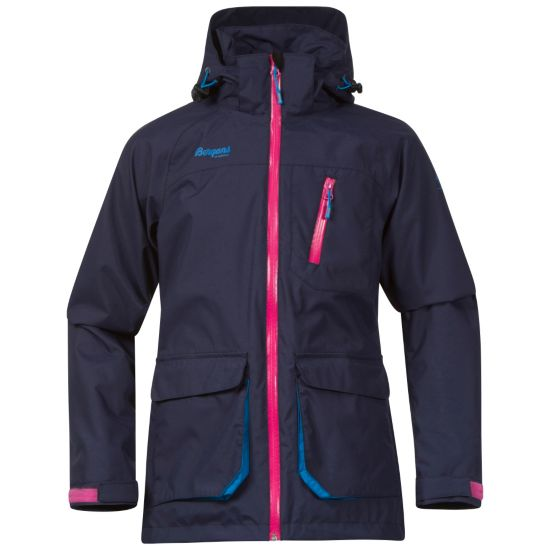 Folven Girl Jakke Junior NAVY/HOT PINK/L