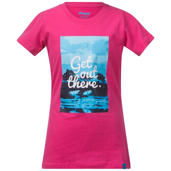 Flower T-skjorte Junior HOT PINK/BR SEA