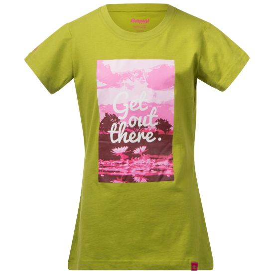 Flower T-skjorte Junior LIME/HOT PINK