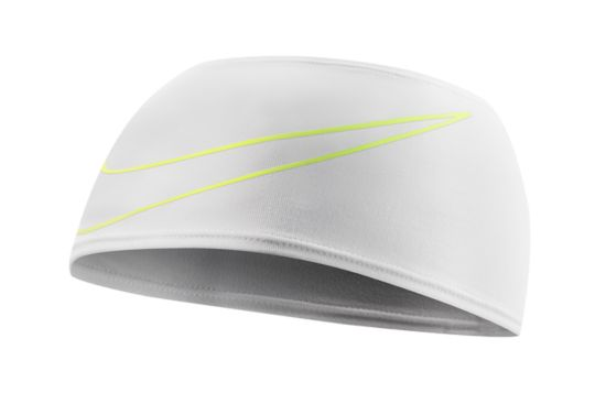 Swoosh Doublewide Headband WHITE/VOLT