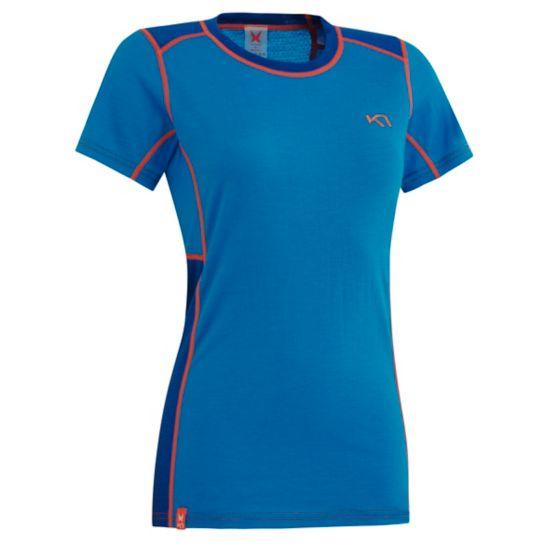 Tikse Ull T-skjorte Dame BLUE