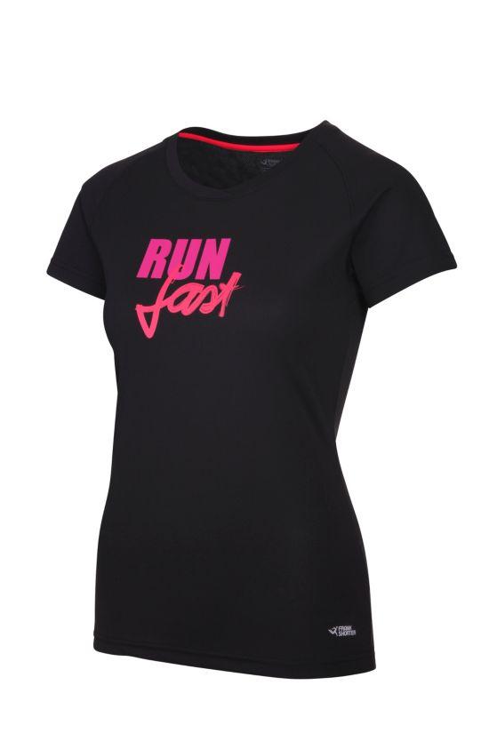 Rebenna T-skjorte Dame BLACK/PINK