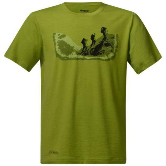 Tur Ull T-skjorte Herre LIME