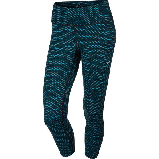 Epic Run Crop Tights Dame 014-BLACK/BLUE
