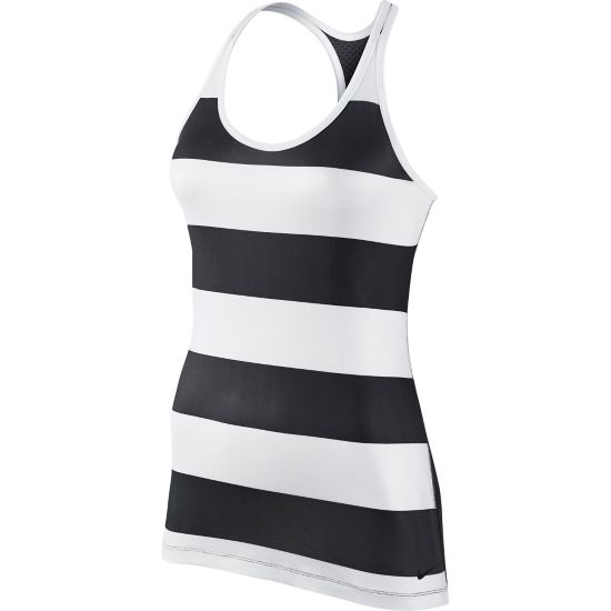 Get Fit Rugby Stripe Tank Dame 010-BLACK/WHITE