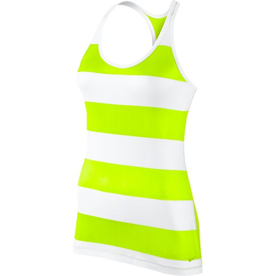Get Fit Rugby Stripe Tank Dame 702-VOLT/WHITE/