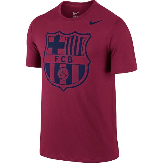 Barcelona Logo T-Skjorte 620-NOBLE RED/N