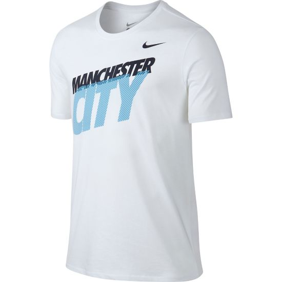 Man City T-Skjorte Herre 100-WHITE/WHITE