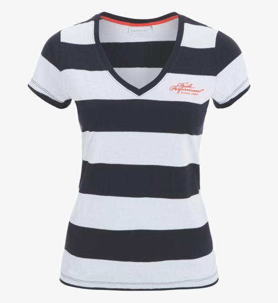Shell V-neck T-skjorte Dame