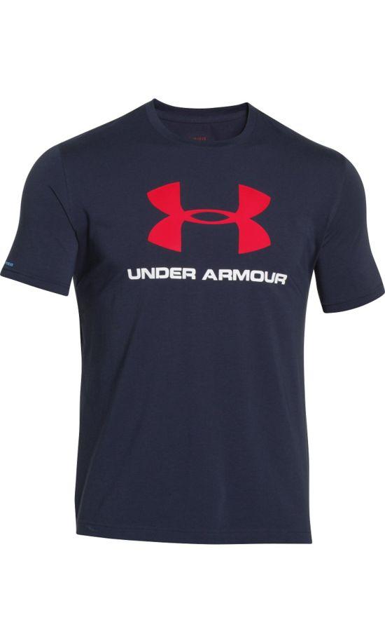 Sportstyle Logo Trenings T-Skjorte Herre MARINE BLÅ