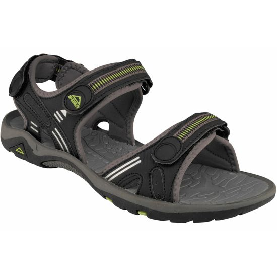 Drawler Sandal Herre BLK/GREY/YELLOW