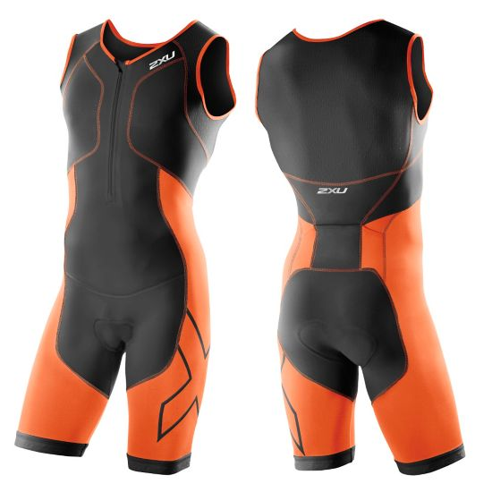 Perform Compr. Trisuit Herre BLACK/LOTUS ORA