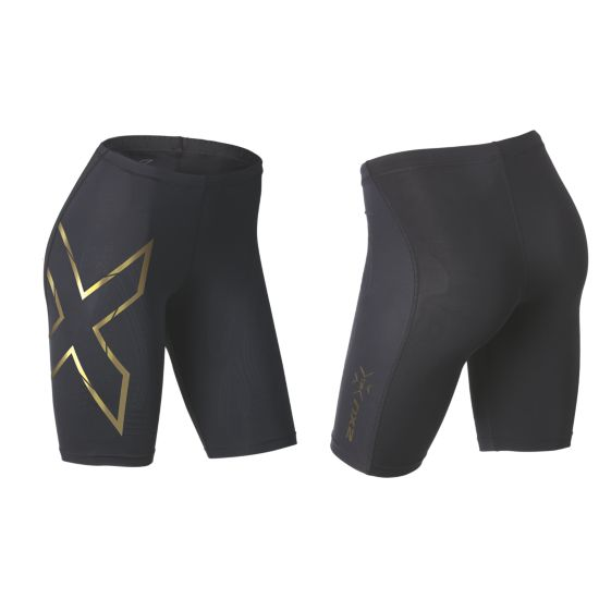 Elite MCS Kompresjonsshorts Dame BLACK/GOLD LOGO