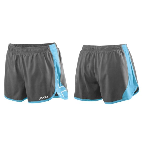 X Stride Shorts CHARCOAL/AMALFI